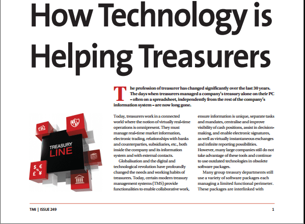 How the technology helps the treasurers – TMI (Apr 2017)