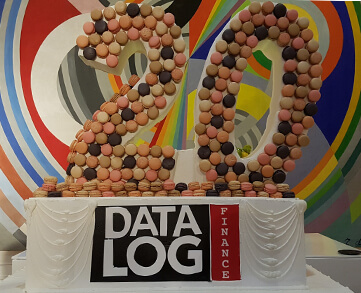 20 years DataLog Finance cake