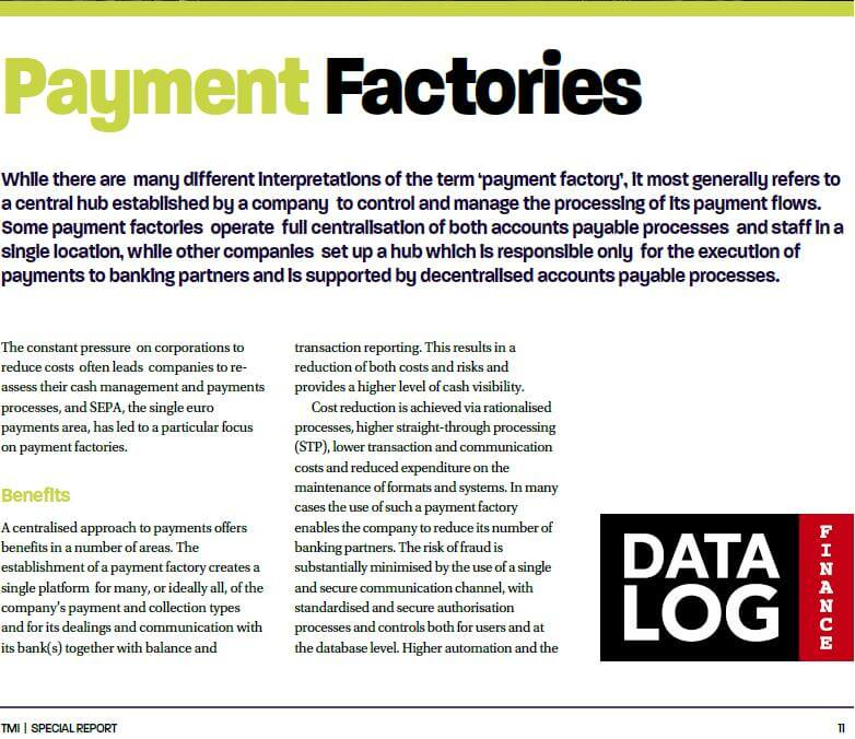 Article on Payment Factories (EACT Guide - Brussels 2017 - TMI)
